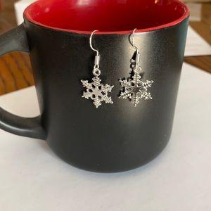 Snowflake silver tone  earrings